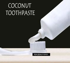 DIY natural Coconut Oil Toothpaste for brighter smile