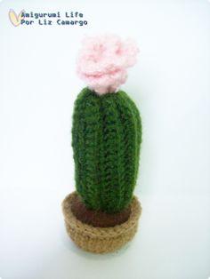 Cactos amigurumi com flor - http://www.tanlup.com/product/867920/cactos-amigurumi-1