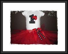 Ladybug Birthday Shirt and Tutu by joyshinedesigns on Etsy