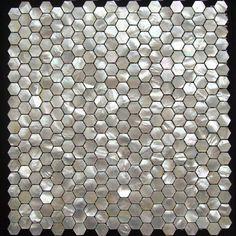 white mosaic tile backsplash | Hexagon-white-mother-of-pearl-mosaic-tile-seashell-bathroom-backsplash ...