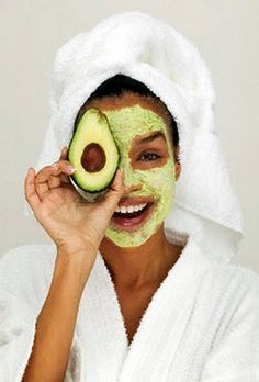 FACIALS!! 1.  Mash half an avocado.  2.  Smear all over your face. 3. let sit for 20 minutes.  4.  rinse with luke warm water.
