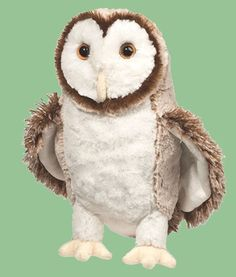Swoop Barn Owl is just glorious! Amazingly beautiful face and sophisticated coloring all with the most soft materials! This stuffed barn owl is a must-have! Ages: 24 Months & Up Washing Instructions: Surface Owl Pet, Great Horned Owl, Diy Stuffed Animals, Owl Stuffed Animal, Stuffed Owl, Snowy Owl, Plush Animals, Toy Sale, Animal Pillows