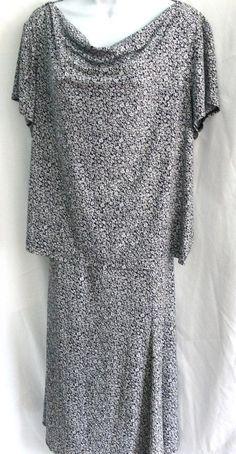 Dressbarn Women Stretch 2 piece Skirt Set Blouse Top Sz 18/20 Asymetrical Hem  #Dressbarn #2pieceskirttopoutfitAsymmetricalHem #Casual
