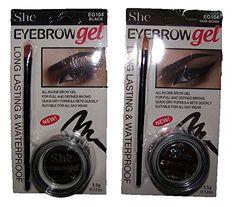 She Eye Brow Gel W/ Brush Eyebrows Kits Black Dark Brown Waterproof (Cosebg) Eyebrow Kits, Black And Brown, Black Dark, Brow Gel, Eye Palette, Quick Dry, Eyebrows, Eyes, Products