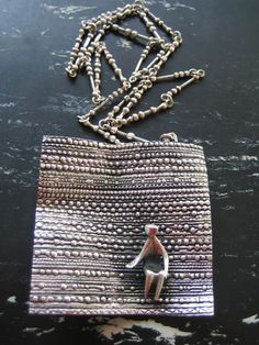 """""""Flying carpet"""" , a genuine one,note the chain ( be aware of cheap fakes made of this model which were sold in USA) Modern Jewelry, Jewlery, Jewelry Design, Fashion Jewelry, Bronze, Pendant Necklace, Vintage Modern, Chain, Scandinavian"""