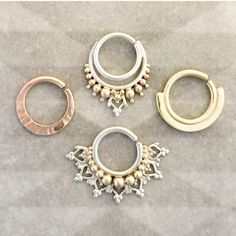 ZEN Piercing Jewelry Indian Nose Ring Tribal Septum Ring Gold Body Jewelry 14k Yellow Gold Septum Ring Daith Piercing Beleaf Jewelry.