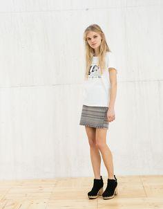 Φούστα μίνι BSK ζακάρ - Φούστες - Bershka Greece
