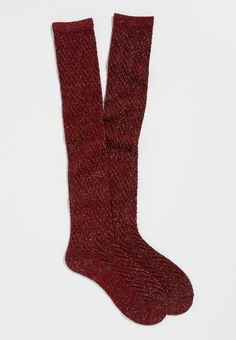 chevron stitched boot socks with shimmer in rose petal (original price, $10.50) available at #Maurices
