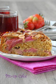 Almond cake with rhubarb