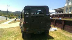 Nato green land rover defender