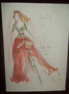 Once Upon A Time - Signed Costume Sketch from Eduardo Castro - Red | eBay