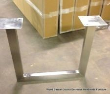 Set of Legs Dining Table slabs all weights polished stainless steel U shaped