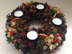 Seasonal Wreath Pinecone Wreath Christmas Wreath by JuraDeco