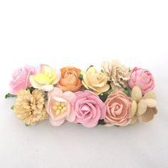 Cream, ivory and babypink flowers for barette or comb. Bridal hair accessories, wedding headpiece, woodland flower, bridal hair flower on Etsy, 113,44 kr