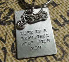 Harley Davidson Motorcycle Keychain–Life Is A Beautiful Ride With You- Valentine's Day Gift-Father Birthday Gift-Gift for Dad Harley Davidson Motorrad KeychainLife ist eine schöne Fahrt Harley Davidson Panhead, Harley Davidson Chopper, Harley Davidson Street Glide, Vintage Harley Davidson, Harley Davidson Quotes, Harley Davidson Wallpaper, Classic Harley Davidson, Gifts For Father, Fathers