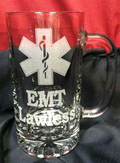 EMS or EMT, Star of Life Beer Mug, Birthday or Wedding Attendant Gifts