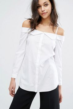 Combining the deconstructed trend with the cold-shoulder, the latest style to woo the fashion world is the décolletage-baring shirt.