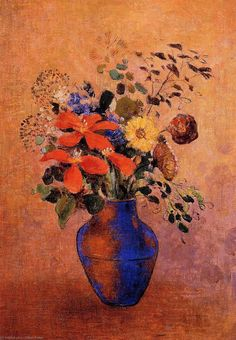 Learn more about Vase Of Flowers Odilon Redon - oil artwork, painted by one of the most celebrated masters in the history of art. Art Floral, Flower Vases, Flower Art, Flowers In Vase Painting, Maurice Denis, Odilon Redon, Pierre Bonnard, Painted Vases, Oeuvre D'art
