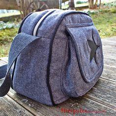 4 Freizeiten: Taschenspieler 4 - AlltagsHeldin, Farbenmix, Handtasche, Umhängetasche, mit Aufsatztasche und klappe, nähen, Negativapplikation Stern