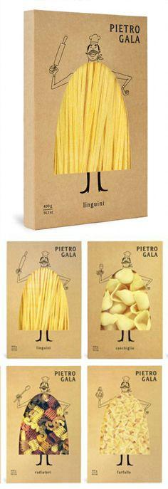 Pierrot Gala Pasta Packaging Design