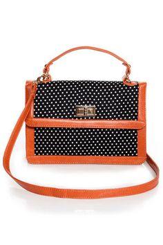 Cute Polka Dot Handbag - Structured Handbag - Polka Dot Purse