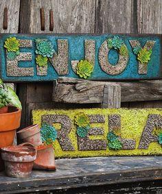 Look at this Evergreen Succulent Garden Outdoor Wall Art Set on today! Outdoor Wall Art, Outdoor Walls, Indoor Outdoor, Outdoor Spaces, Outdoor Decor, Wall Decor Set, Wall Art Sets, Art Mural En Plein Air, Garden Wall Art
