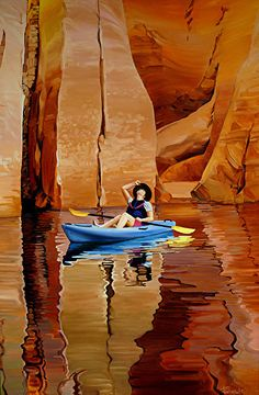 Ron Larson - The Wonder of It All Oil Lake Powell- Oil - Painting entry - December 2015   BoldBrush Painting Competition