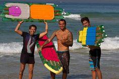 Tabla de surf hecha con botellas PET impulsa la educación ambiental a Brasil