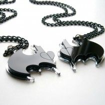 Batman Friendship Necklaces - LOTS of really cute superhero stuff on this site!