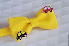 """Купить SALE! Галстук-бабочка детский """"Дорожное движение"""" - желтый, галстук-бабочка, галстук бабочка"""