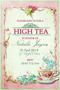Free afternoon tea party invitation template tea party party invite victorian tea wedding make your own party invitations decorate ideas high print party invitations clip art surprise party invitation stopboris Gallery