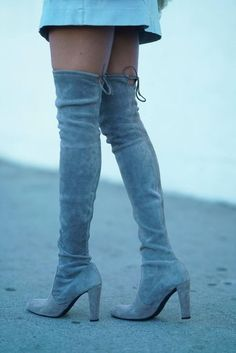 Shoes: tumblr boots over the knee boots over the knee high heels boots blue boots sexy fall boots