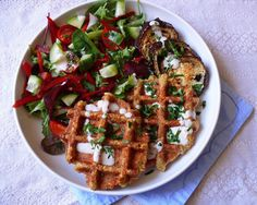 Falafel, Kung Pao Chicken, Waffles, Paleo, Food And Drink, Breakfast, Ethnic Recipes, Tahini, Morning Coffee