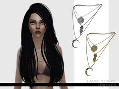 The Sims Resource: Layered Necklace by LeahLillith • Sims 4 Downloads