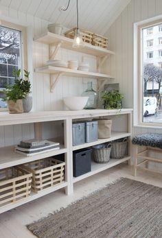 Sommarnojen Attefall house by sandellsandberg 4 Modern Cabin Interior, Interior Design, Compact Living, Küchen Design, My Dream Home, Home Kitchens, Gazebo, Kitchen Decor, Sweet Home