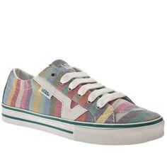 Vans shoes - pastel stripe.