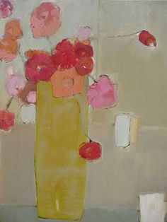 Bridget Lansley, Tall Yellow Vase