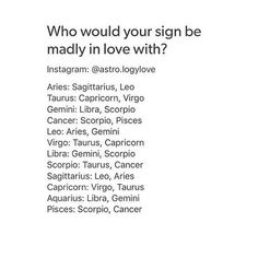Hmmm. I was with a Taurus for 10 years and lost my virginity to a Cancer. First love was a Virgo. Married (and divorced) an Aquarius. My love life in a nutshell. Lol