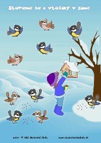 Staráme sa o vtáčiky v zime - Sýkorka aj vrabček malý prileteli, hladní boli. Feeding Birds In Winter, Crafts For Kids To Make, Illustrations, Bird Feeders, Activities For Kids, Preschool, Family Guy, Fictional Characters, Thread Art
