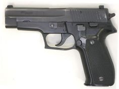 Original (early production) SIG-Sauer P226 pistol in 9mm, with stamped slide, left side view.Loading that magazine is a pain! Get your Magazine speedloader today! http://www.amazon.com/shops/raeind