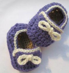 Cute baby slipper pattern (free)