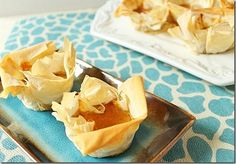 These Pumpkin Phyllo Bites are a scrumptious bite of something flakey and slightly sweet. Use the #OXO Cookie Scoops to help scoop the perfect amount of filling into each Bite! #SideofOXO
