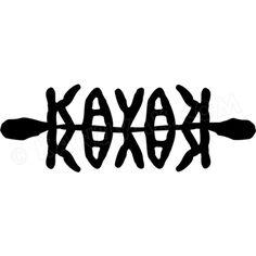 Kayak Decal, Sticker, Reflection