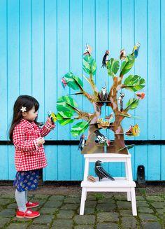 árbol de cartón de kidsonroof