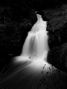 sitting lady falls metchosin bc canada british columbia black white photo photograph mother nature white water awesome black white