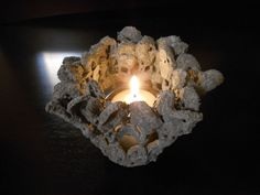 create cement lace using doilies and other crochet items, concrete masonry, container gardening, crafts, gardening, how to
