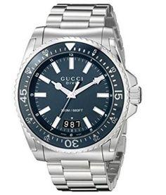 665a779a7c1 GUCCI(グッチ)☆ Dive Analog Display Swiss YA136203☆腕時計 商品名:Gucci Dive Analog  Display Swiss Quartz Silver-Tone Men s Watch(Model YA136203) 人気 ...