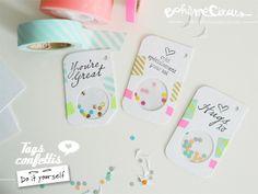 Bohème Circus: Tags confettis - DIY