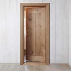 Custom-made door in Dinesen HeartOak
