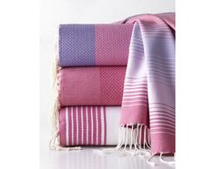 Scents and Feel Fuchsia Fouta Towels - - Home and Garden Design Ideas